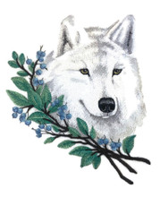 Wolf in Winter Branches