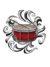 Drum with Baroque Background