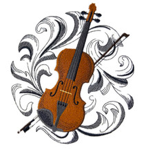 Violin with Baroque Background