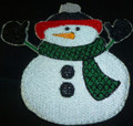 Snowman 3 embroidery applique patch