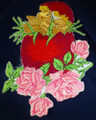 Easter embroidery applique patch