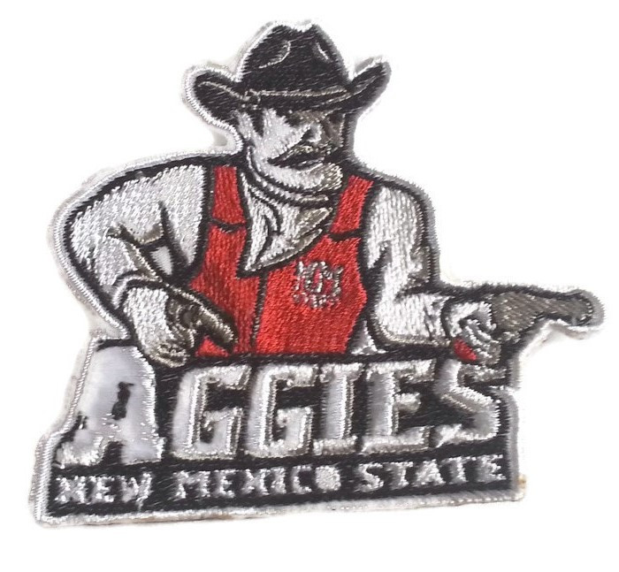 New Mexico State Aggies Logo Iron On Patch Beyond Vision Mall