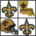 New Orleans Saints Iron On Patches