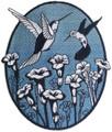 Spring Hummingbird Oval