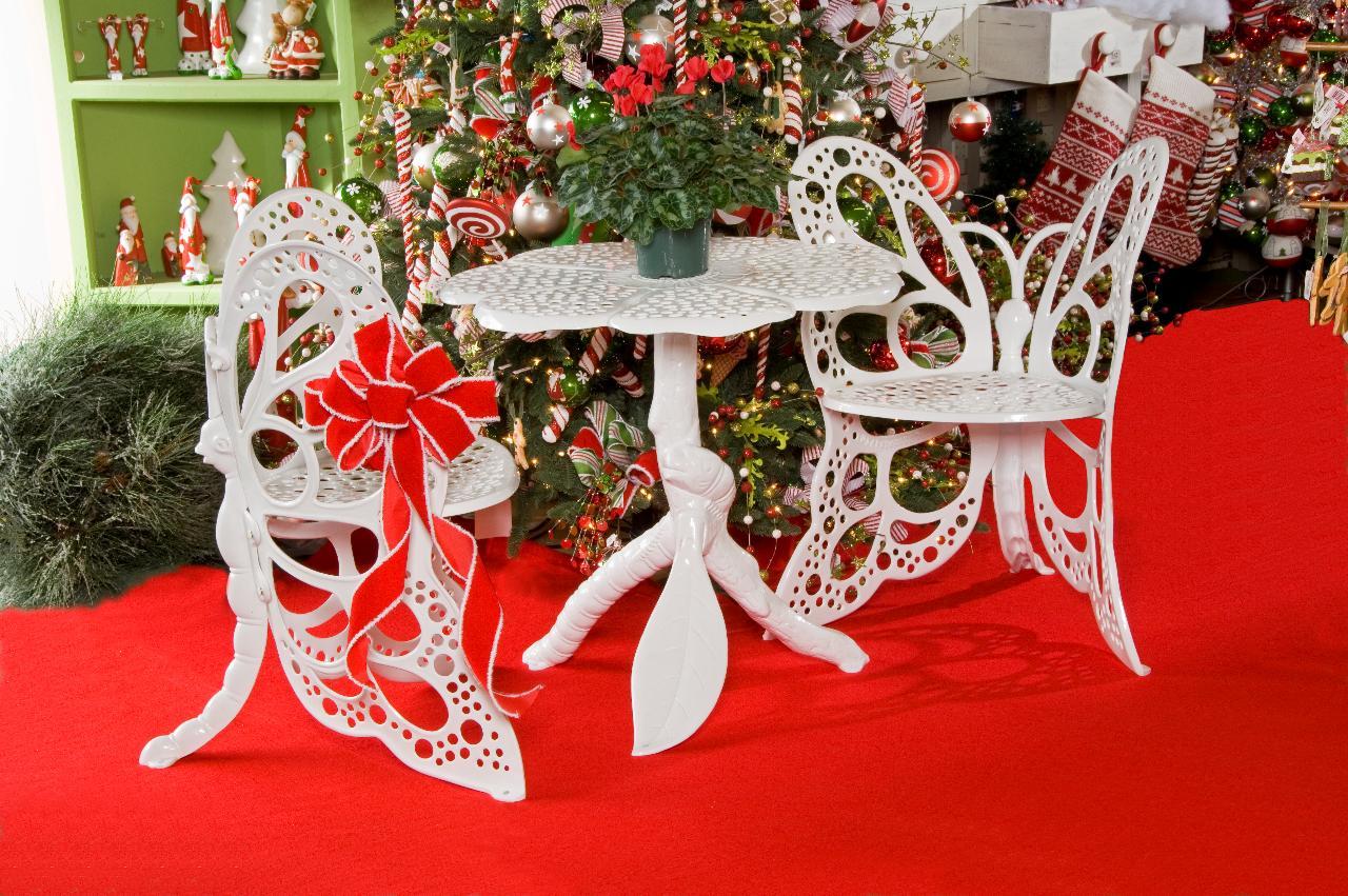 winter bistro Butterfly chair set