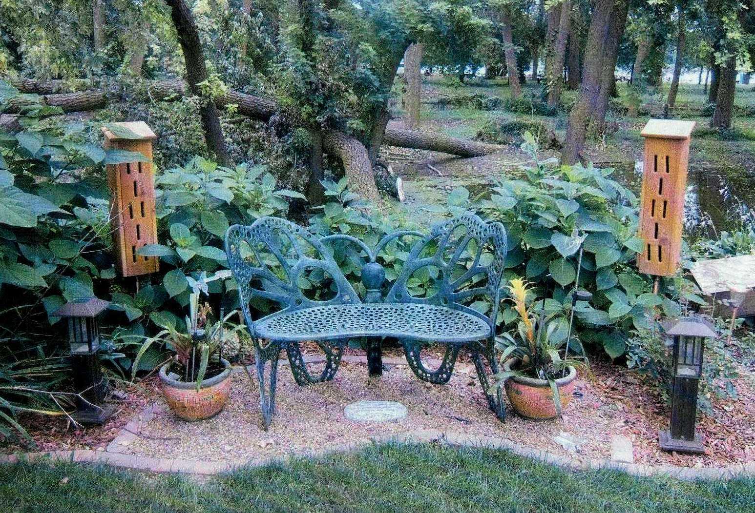 Zen memory garden Butterfly chair