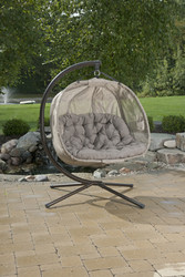 Hanging Pumpkin Patio Loveseat Chair w/ Stand