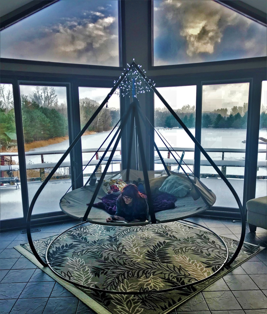 7ft Dia Hanging Hammock Flying Saucer With Stand Flowerhouse