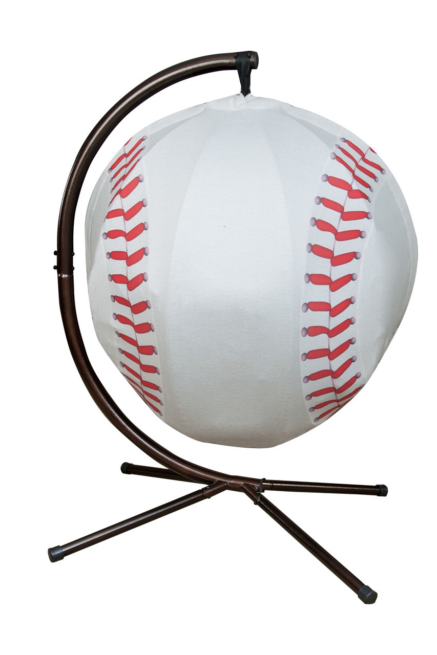 53bc9715b Baseball Hanging Lounge Chair W/ Stand. Price: $568.75. Image 1