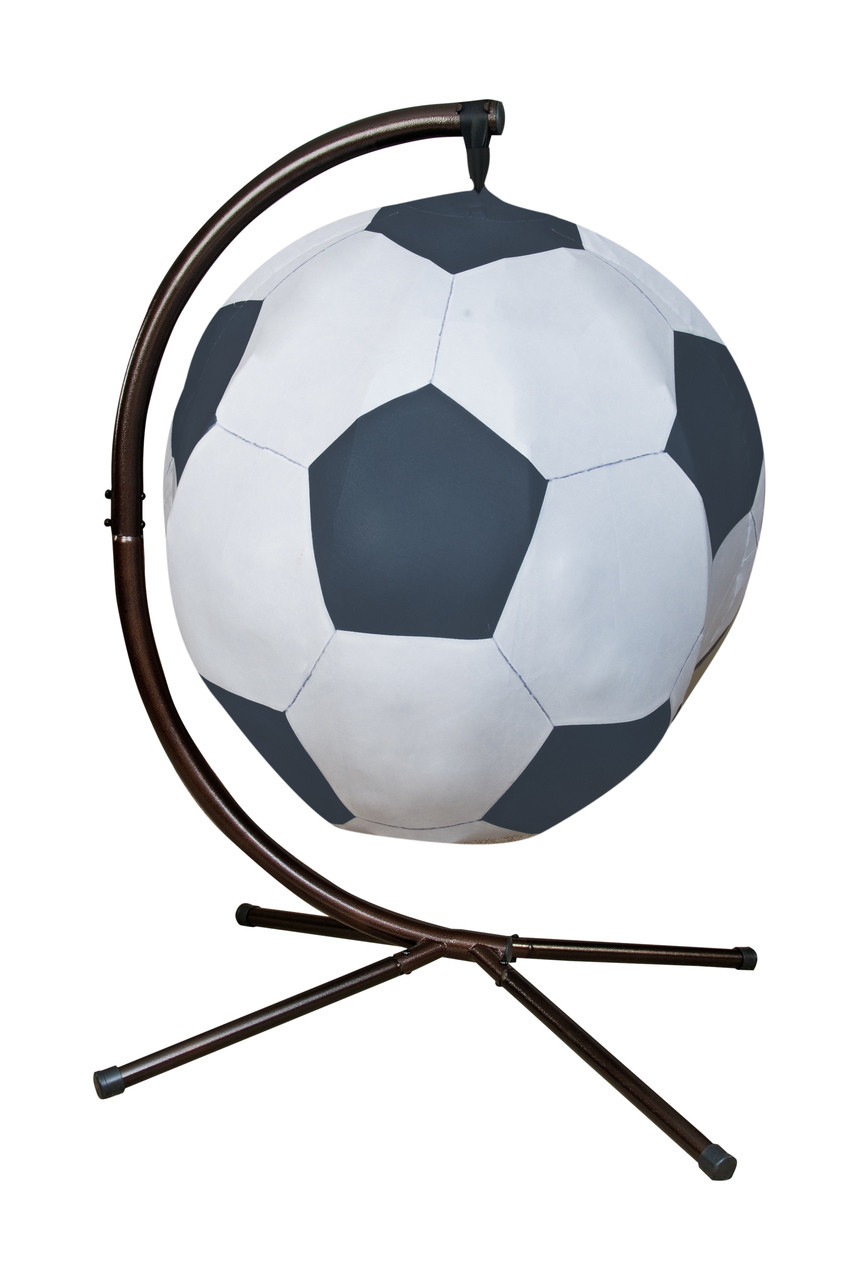 ef5cae1fe Soccerball Hanging Lounge Chair W/ Stand. Price: $568.75. Image 1