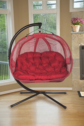 Pumpkin Love Seat Chair-Red Scratch & Dent