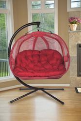 Pumpkin Love Seat Chair-Red Scratch & Dent