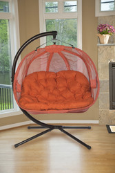 Pumpkin Love Seat Chair-Orange Scratch & Dent