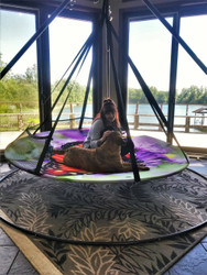 7ft dia Hanging Hammock Blooming Lounge Chair Butterfly Scratch & Dent