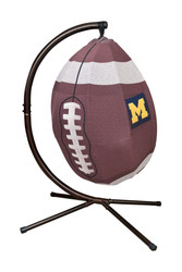 Football Hanging Lounge Chair W/ Stand University of Michigan