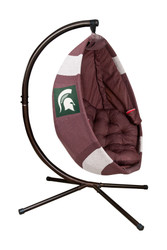Football Hanging Lounge Chair W/ Stand Michigan State