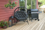 Cozy Overland Ball Chair in Black Scratch & Dent