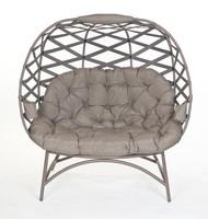 Cozy Cross Weave Pumpkin Chair Love Seat in Sand Scratch & Dent