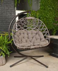 Cross Weave Pumpkin Chair Love Seat in Sand Scratch & Dent