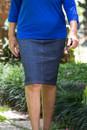 Denim Pencil Skirt-front view