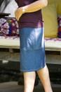 Denim Pencil Skirt-side view