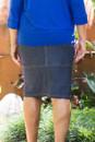 Denim Pencil Skirt-back view