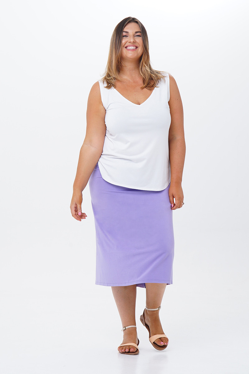 Pants With Skirt-Front View