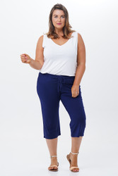 Modal Draw String Capri Pants front view