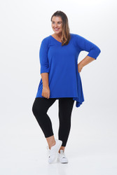 Tunic top V neck-front view