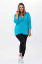 Twist top 3/4 sleeves-front view