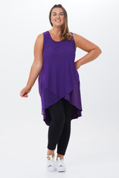 Gaia Law back Net Overlay Tunic