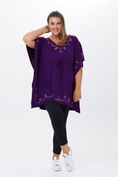 Embroidered Caftan Top