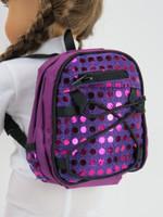 Purple Sequin Backpack
