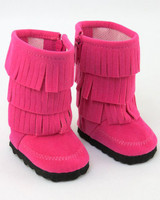 Pink Fringed Boots for American Girl Dolls
