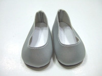 Silver Matte Slip Ons For 18 Inch American Girl Dolls
