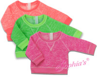 Neon Lime Slouchy Sweatshirt Fits American Girl Dolls