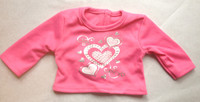 Heart & Rhinestone Long Sleeve Tee