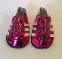 Hot Pink Metallic Soccer Cleats