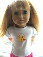 Emoji T- Shirt Fits 18 inch American Girl Dolls.