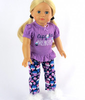 3 PC Cupcake Pajamas Set For Your American Girl Doll