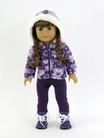 Purple Snowflake Pants Set For Your American Girl Doll