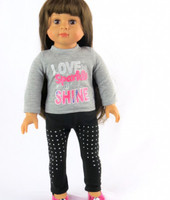 Sparkle and Shine Pants Set For Your American Girl Doll