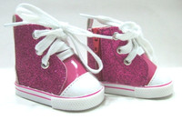 SALE!!! Hot Pink Glitter Tennis Shoes for American Girl Dolls