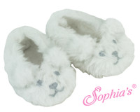 Fuzzy Polar Bear Slippers For American Girl Dolls