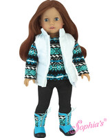 Knit Sweater Set With Boots For American Girl Dolls