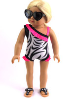 Zebra Swim Suit For American Girl Dolls