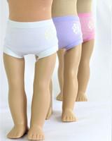 Panties Set of 3  For American Girl Dolls