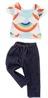 Rainbow Pants Set for Wellie Wishers
