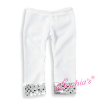 White Sequin Leggings for 18 inch American Girl Dolls