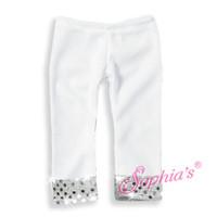 White Sequin Leggings for 18 inch American Girl Dolls